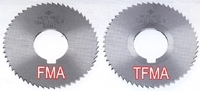 Screw Slotting Cutter Non-coated and TiN-coated 70Dia (56NT)